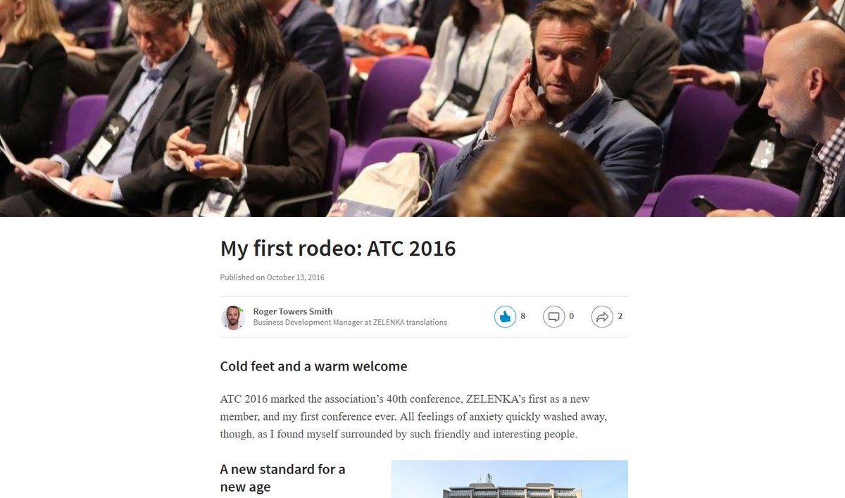 Roger, our bearded BDM, has just posted about his very first experience from @atc_translation conference in London!…