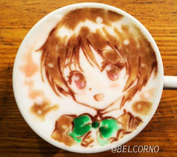 ラテアート【五月七日くみん】@中二病でも恋がしたい!LatteArt【Kumin Tsuyuri】本日お誕生日で1杯。H
