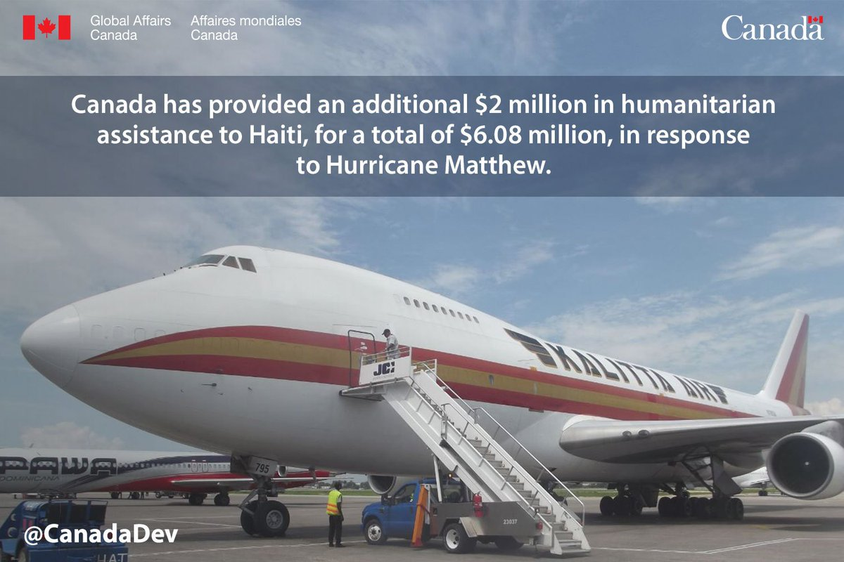 Canada announces additional $2M in humanitarian assistance to #Haiti #HurricaneMatthew https://t.co/OgirpE7RwA https://t.co/AyUUY2de9N