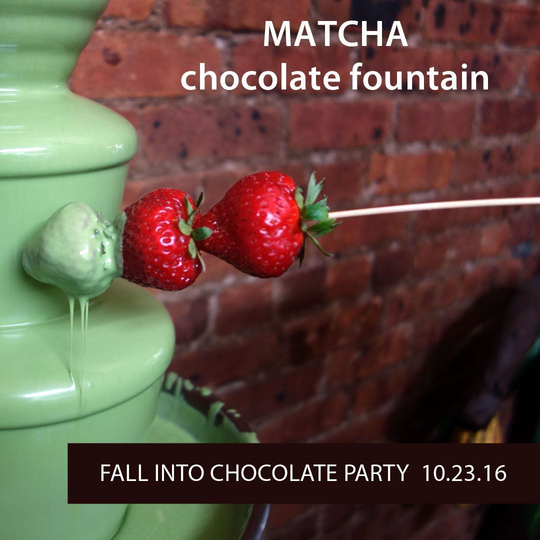 OMG! Come dip in the MATCHA chocolate fountain @roni_sue 10.23.16 https://t.co/MDX5I3cDE1 #matcha #nyc https://t.co/7B7ZFXba6N