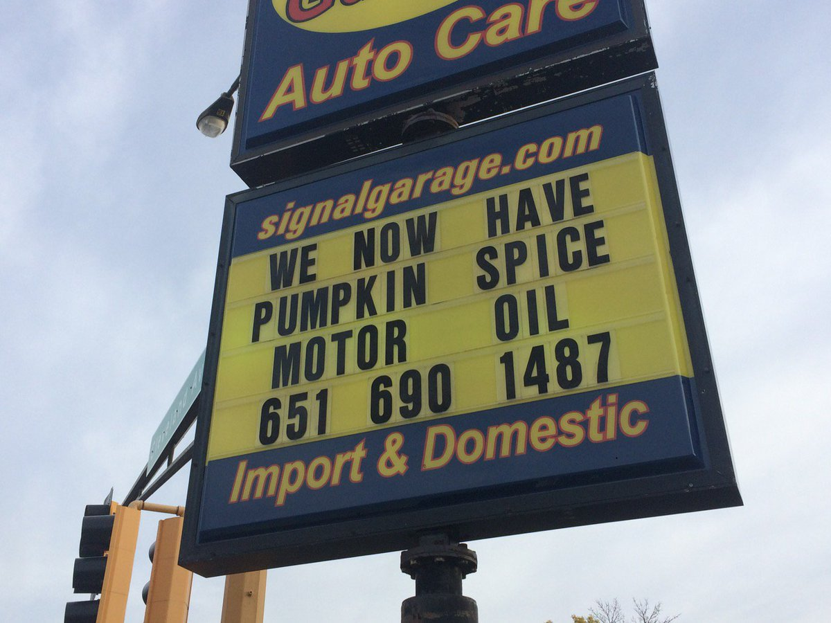 Sign of the day. #pumpkinspice https://t.co/zTFMPXUON2