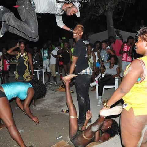 What dance move on Earth requires this altitude? RT @SKTV_  #StopJamaicans2016 Pt 16 https://t.co/O8h2Fnosyj