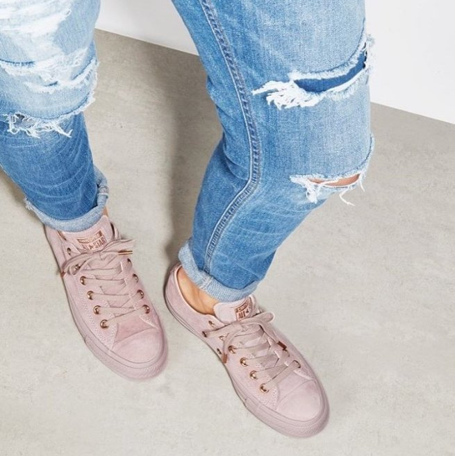 converse burnished lilac rose gold