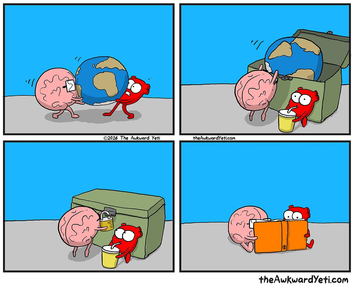 """A moment's escape."" This is us every Friday. @theawkwardyeti is here Sunday at 3pm! https://t.co/tO8vFGmRwL"