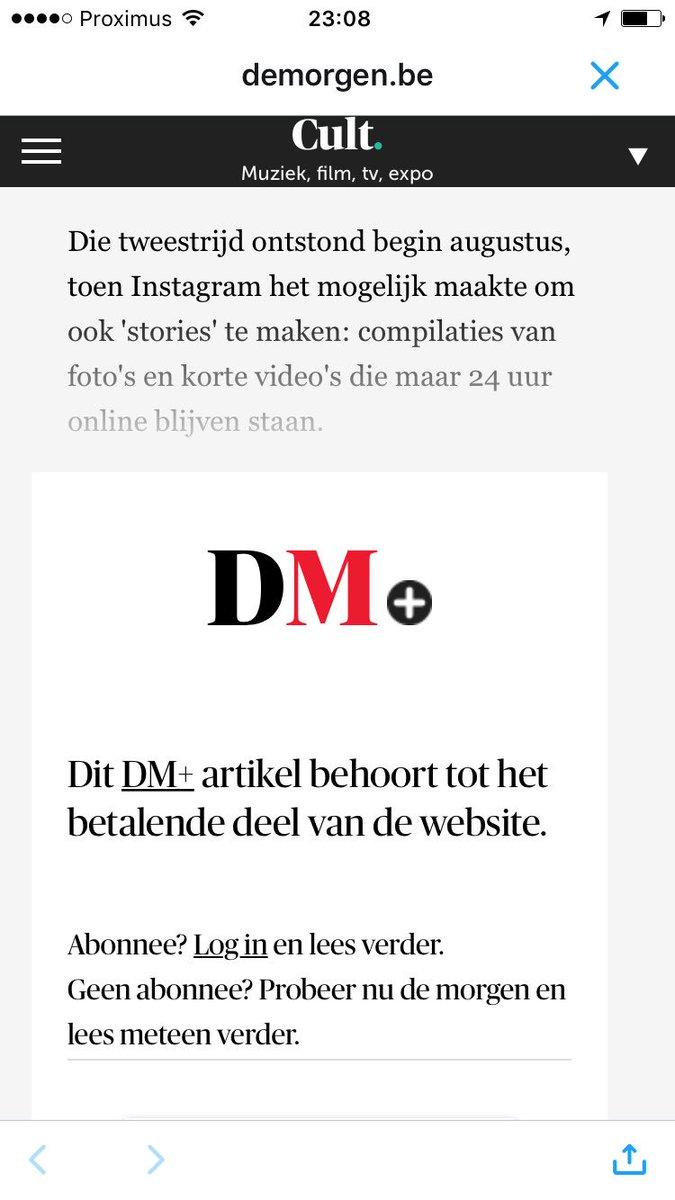 Hey @demorgen, ik wil geen abo! Ik wil gewoon betalen om dit artikel te lezen. Hoe regelen we dat verder? https://t.co/OtM7GMLAZB
