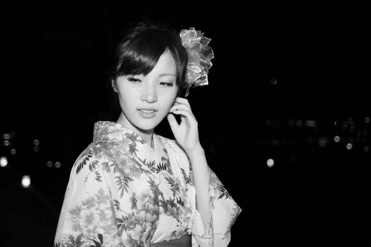 ある夏の夜model : yuaモノクロだと着物?浴衣?分からん(笑)#ポートレート #ポートレート好きな人と繋がりたい
