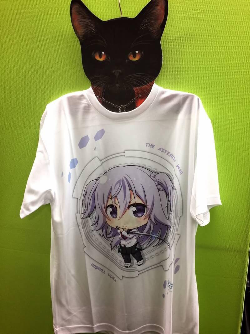アスタリスク4大ヒロインのドライメッシュTシャツ頂いた(๑˃̵ᴗ˂̵)印刷が超絶キレイです✨#asteriskwar