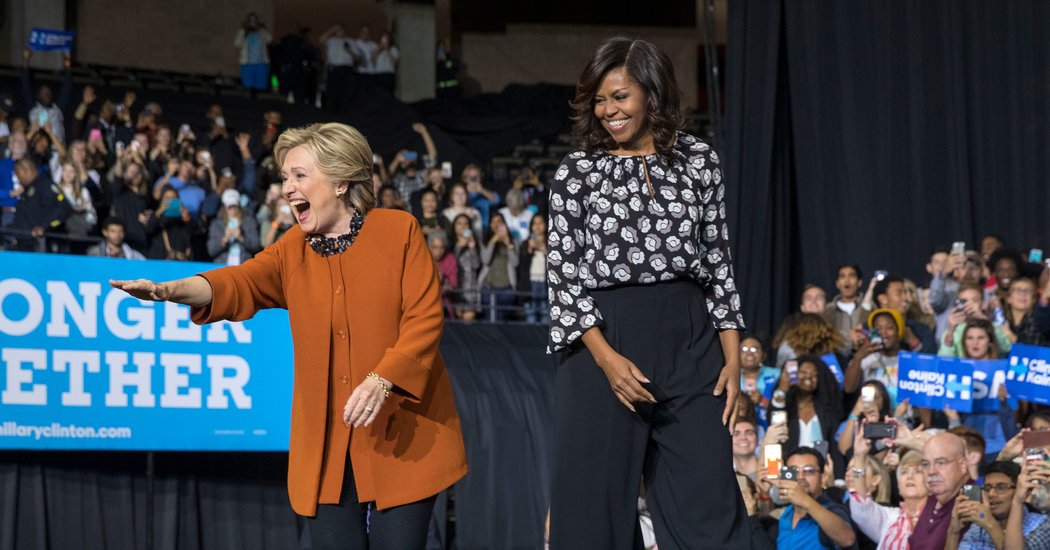 Hillary Clinton basks in Michelle Obama's soaring popularity on the campaign trail