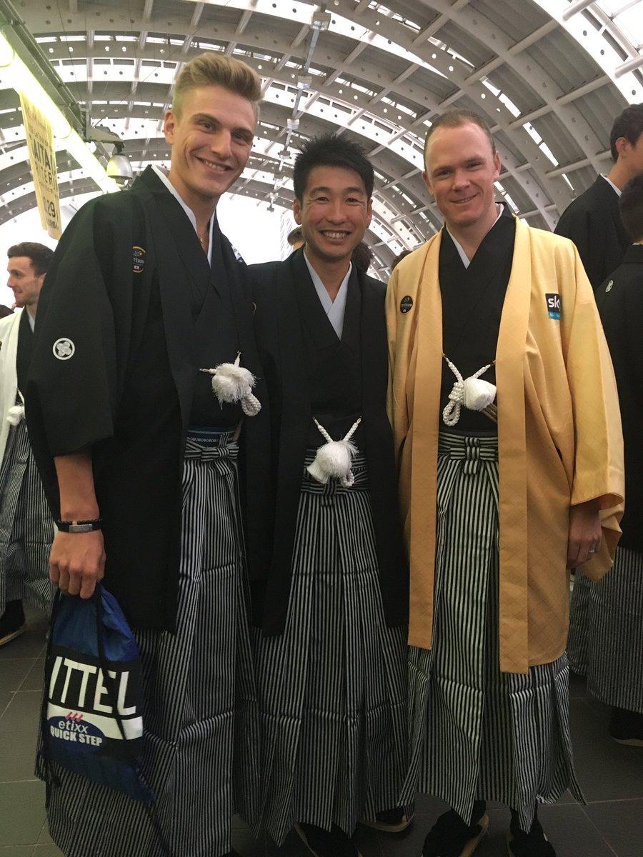 Japanese kimono style with @marcelkittel and @chrisfroome #saitamacriterium