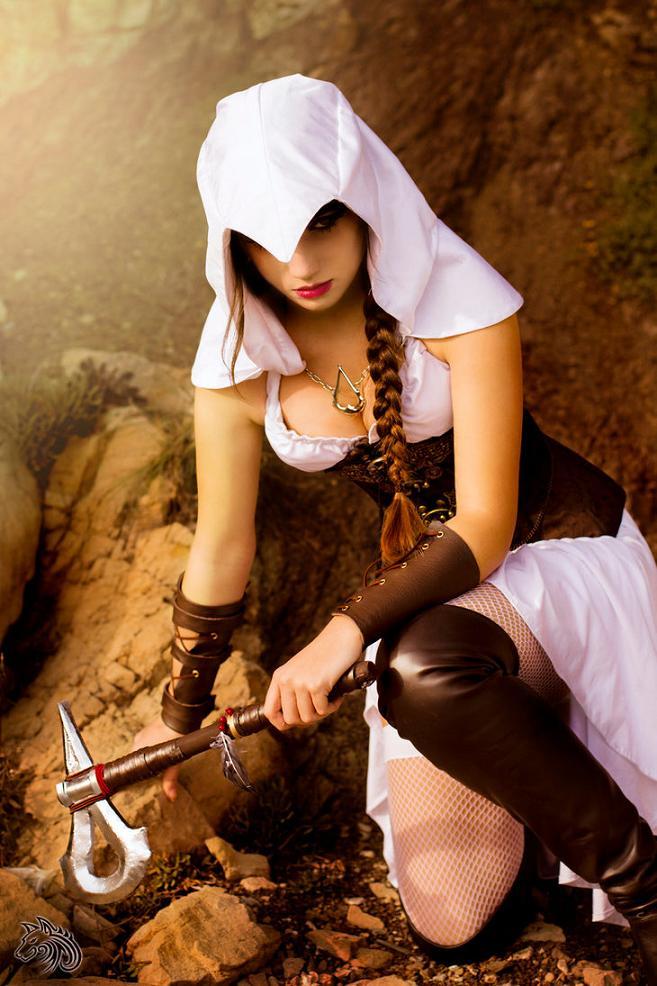 Assassin's Creed cosplay by Kotori @KotoriCosplay1 Photo: @Tenhaku #assassinscreed https://t.co/8G7VyFknrn