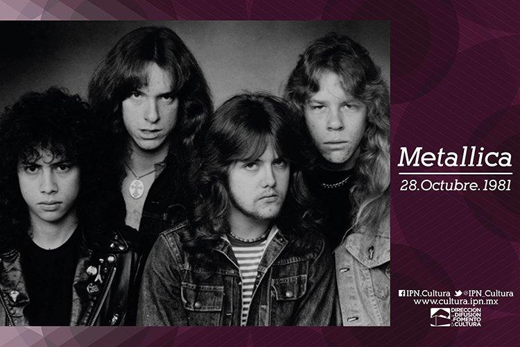 El 28 de octubre de 1981 se formó Metallica. Banda estadounidense de thrash metal. Creadores de un importante legado en la historia musical. https://t.co/Hpi3HtARDi