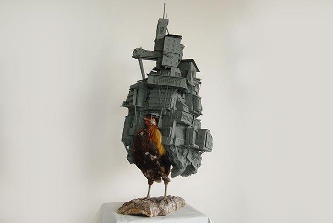 オランダのアーティストが作った、『ハウルの動く城』のようなアート作品