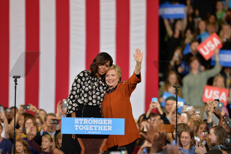 Clinton hit the trail with Michelle Obama during the fallout from the WikiLeaks revelations