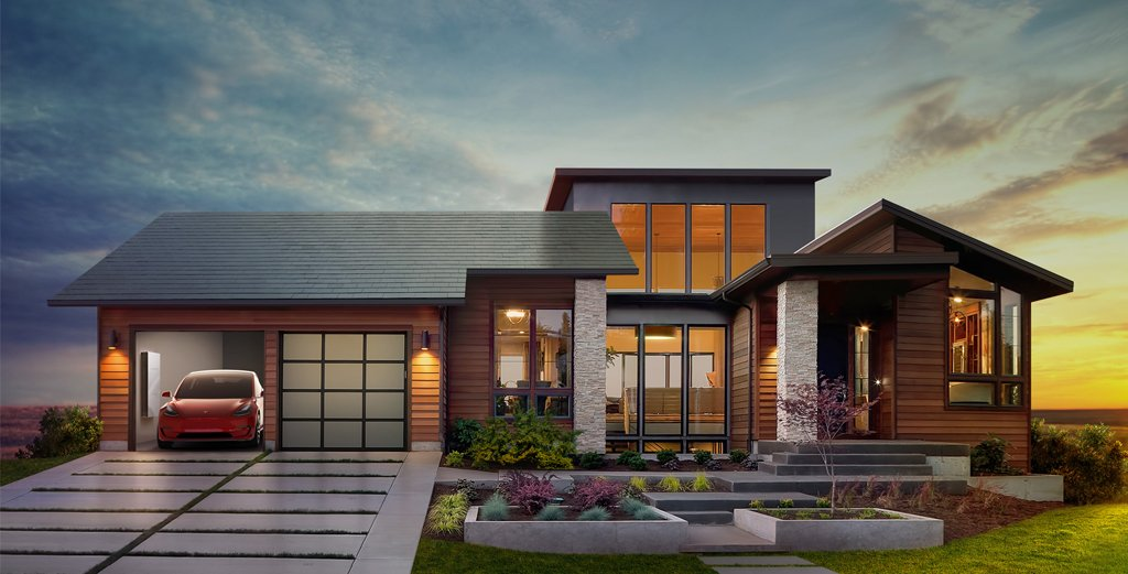 Tesla + SolarCity future: solar roofs + batteries + electric cars https://t.co/os26v4W62m