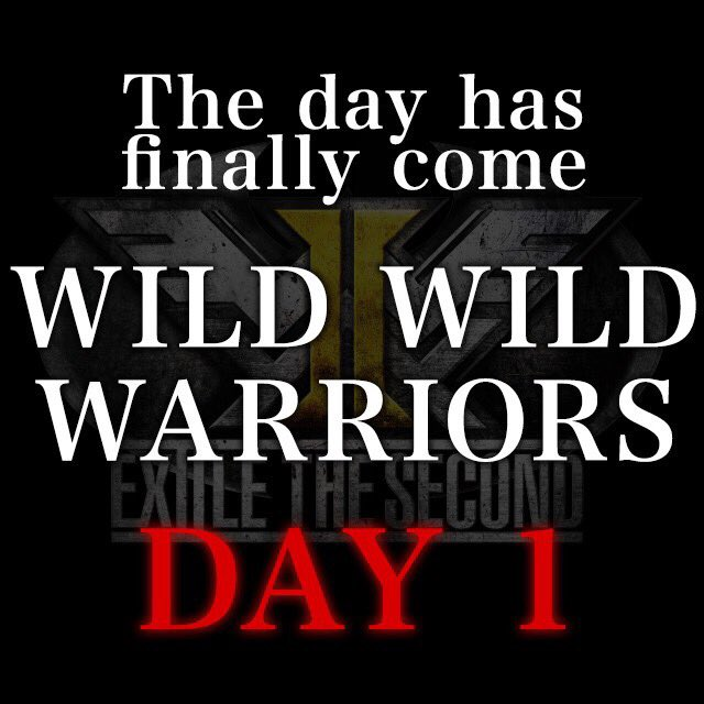 WILD WILD WARRIORS   初の単独ツアーの初日です‼️ ARE YOU READY TO GET WILD? LETS GET IT‼️  #WILDWILDWARRIORS  #EXILETHESECOND