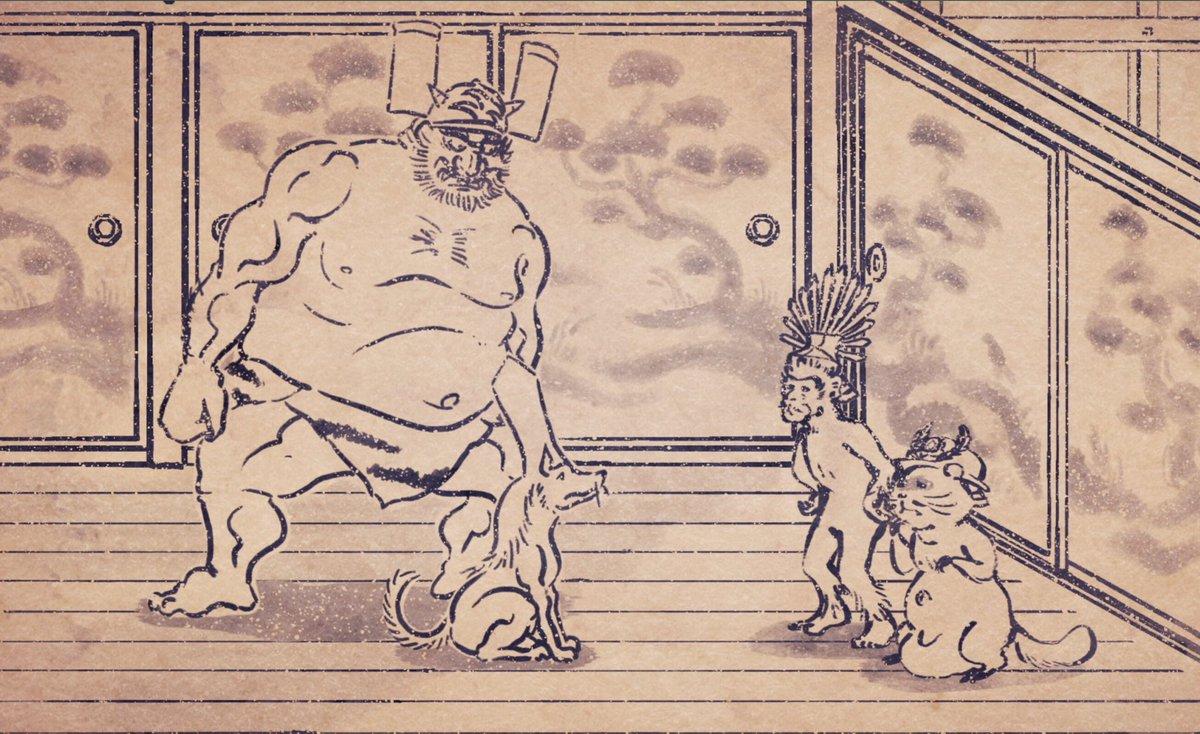 本日、KBCにて深夜1時42分〜第4話「変な二人」放送いたします!織田信長の元へ向かった豊臣秀吉と徳川家康が見てしまった