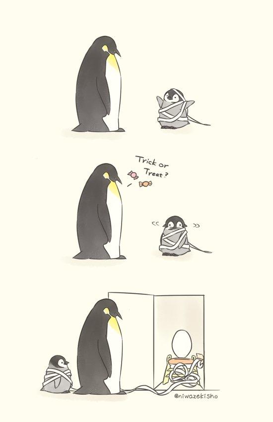 ミイラの仮装じゃなかった No, mom. It's not a mummy-costume.