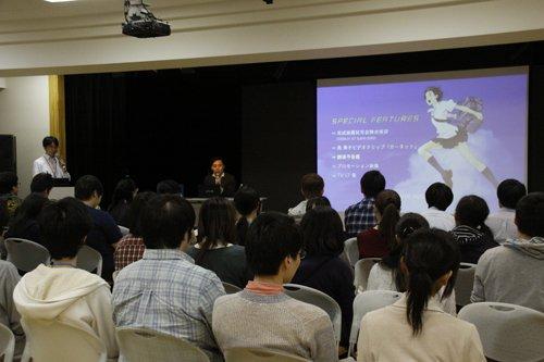 スタジオ地図プロデューサー齋藤優一郎さん特別授業昨日、「バケモノの子」や「おおかみこどもの雨と雪」「サマーウォーズ」「時