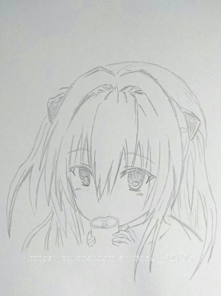 ヤミちゃんを描いてみました。難しいf(^_^;#ToLOVEる#ToLOVEるダークネス #ヤミ