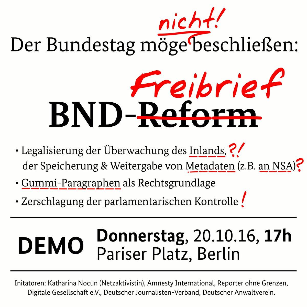 Mitmachen: Bündnis-Protest und Anruf-Aktion gegen die BND-Reform https://t.co/k4G6netXZU https://t.co/LJruIWHdGo