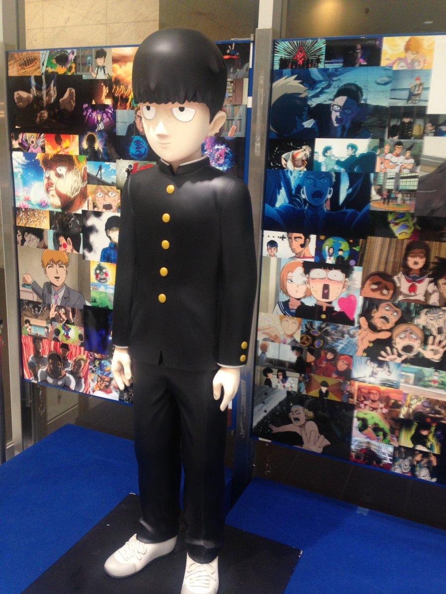 モブ100の展示見てきました。大満喫!!アニメセンターに有頂天家族の設定アート集があったので買わせて頂きました