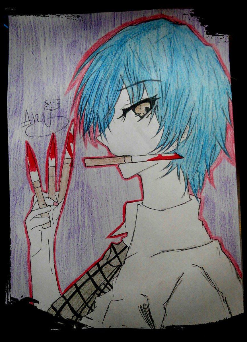 落書きで兎角さん描いた🎶😊✌最近兎角さん描きすぎてる気がする(笑) #悪魔のリドル #東兎角