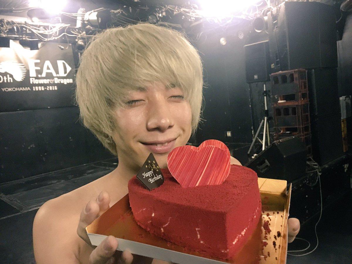 そして八木くんハッピーバースデー!! ハートのケーキは横浜F.A.Dの椎橋さんからいただきました