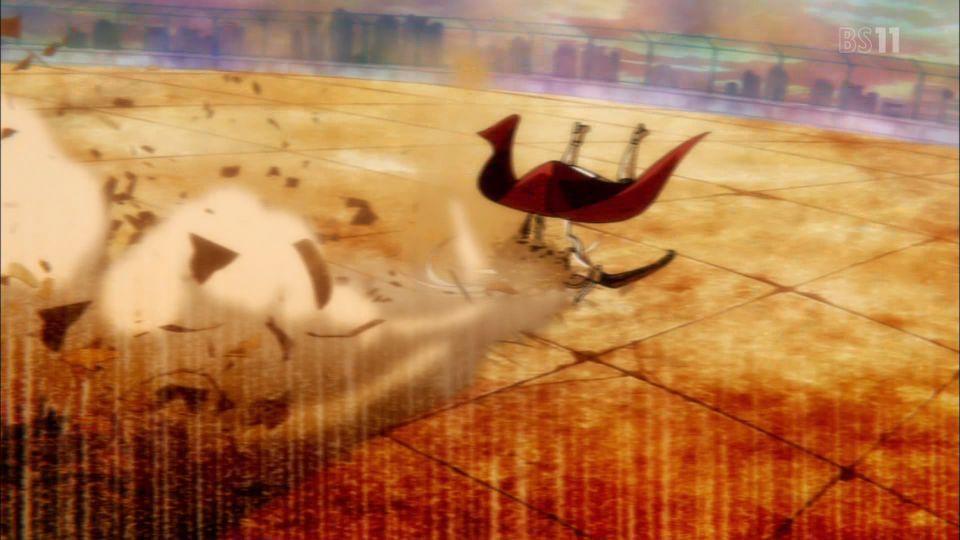 ずざーの仕方を、静止画で見るとすごいことに(゜▽゜;) #侍霊演武 #bs11