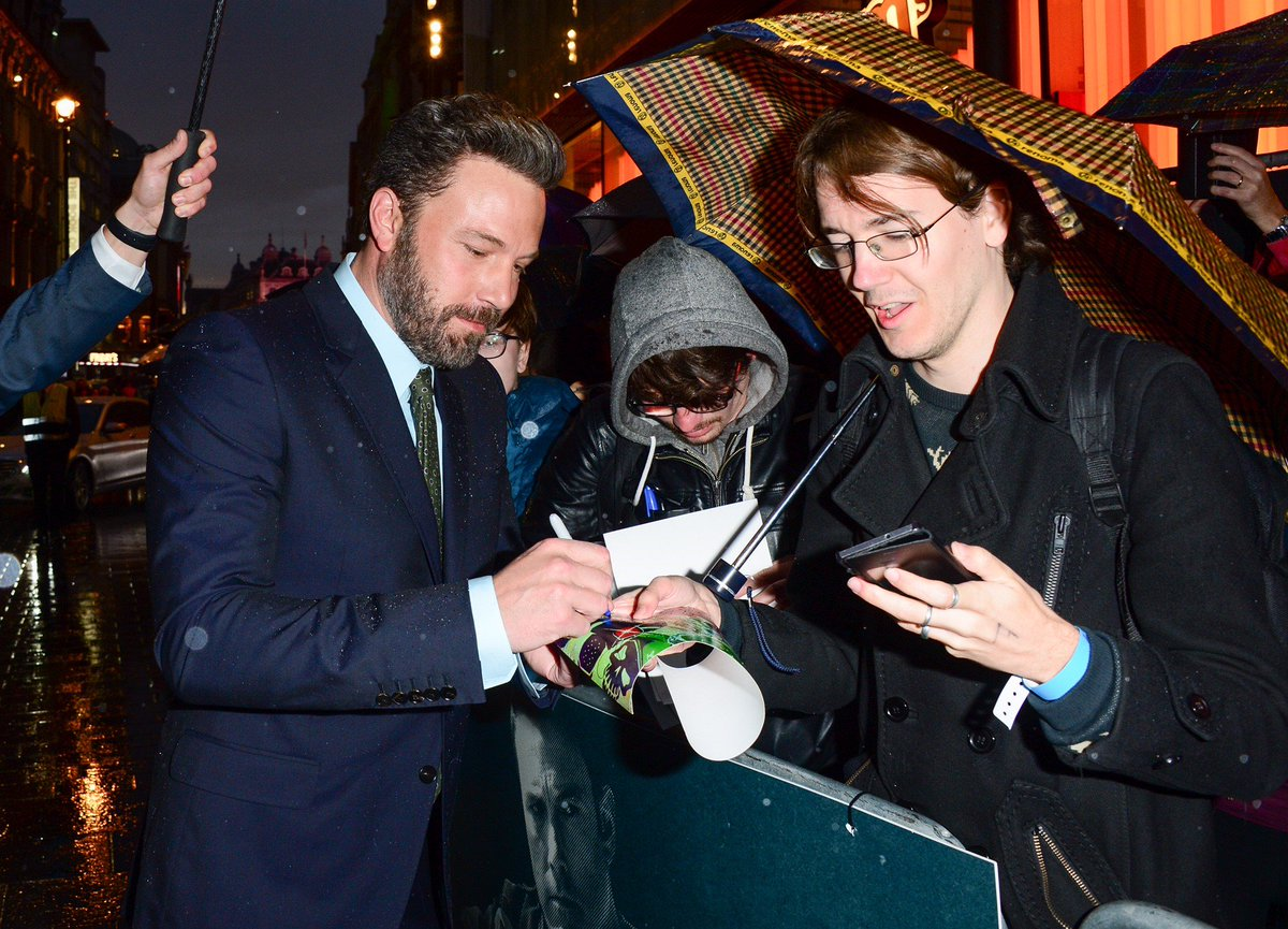 Rain or shine, you guys are the best fans! #TheAccountant https://t.co/YtQWhGr7Wq