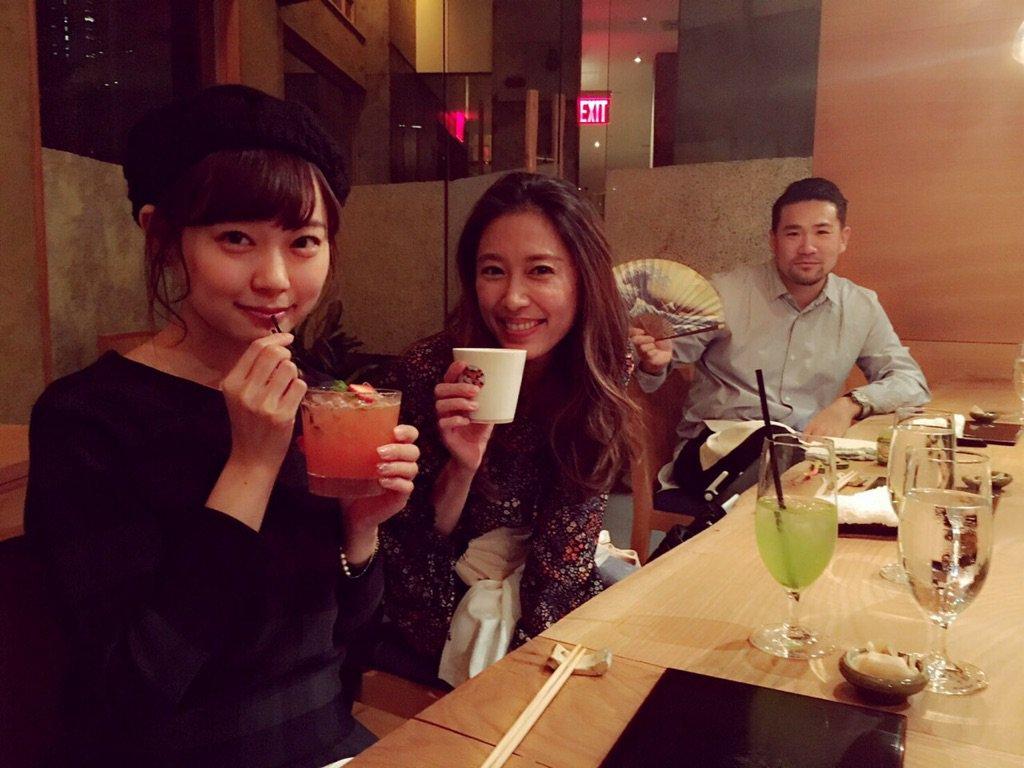 昨夜は、NYに来ていた渡辺美優紀ちゃんとご飯を食べてきました!  楽しい時間をありがとう