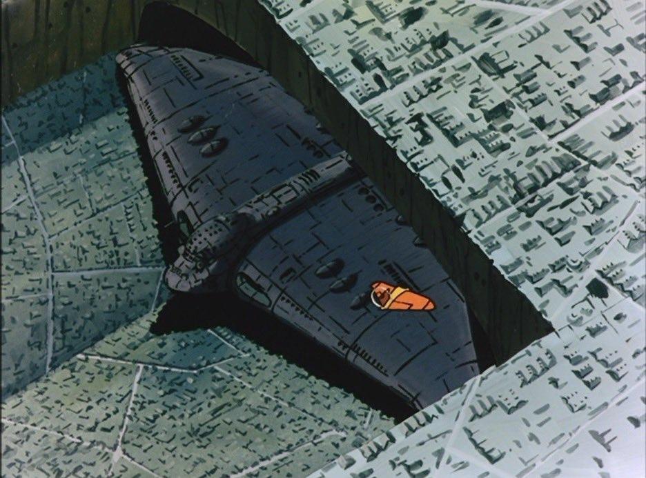 『空中要塞ギガント』「世界を滅ぼした毒蛾の最後の一匹」#ギガント #最も通勤通学に適した航空機 #未来少年コナン #宮崎