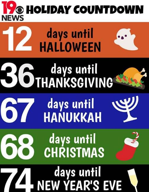 Rt! holiday countdown: in case you were wondering just how many ...