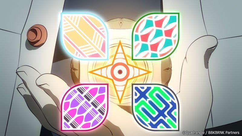 【紋(クレスト)解説 その二】現在の王舞のクレストの各部位には、以下のような名称があります。心臓:東雲(しののめ)と橙の