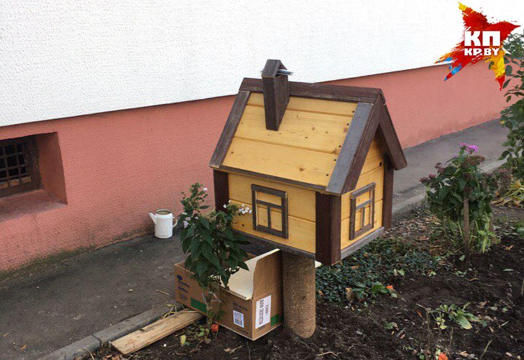 Домик для улицы для кошки