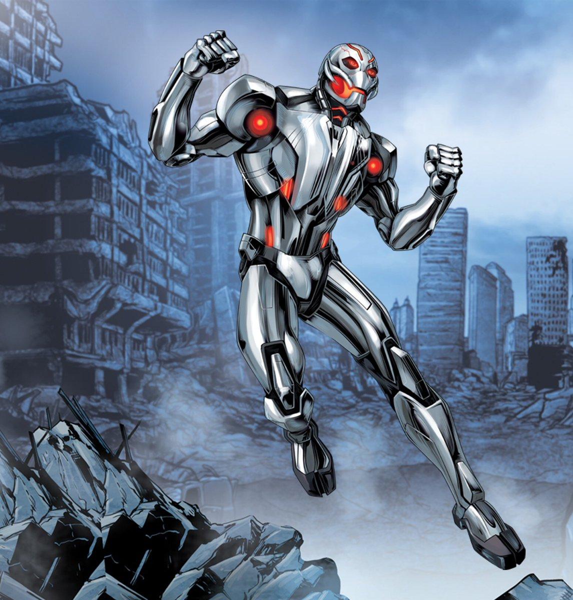 #アメコミキャラ紹介 【ウルトロン】アベンジャーズに登場するスーパーヴィラン。ハンク ピム博士(アントマン)によって造ら