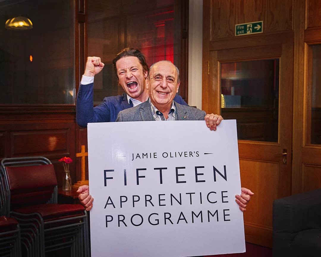 Last night we graduated our amazing @JamiesFifteen students me and @gennarocontaldo were so proud of them!!!!!!!! https://t.co/9KmdZJwr0r