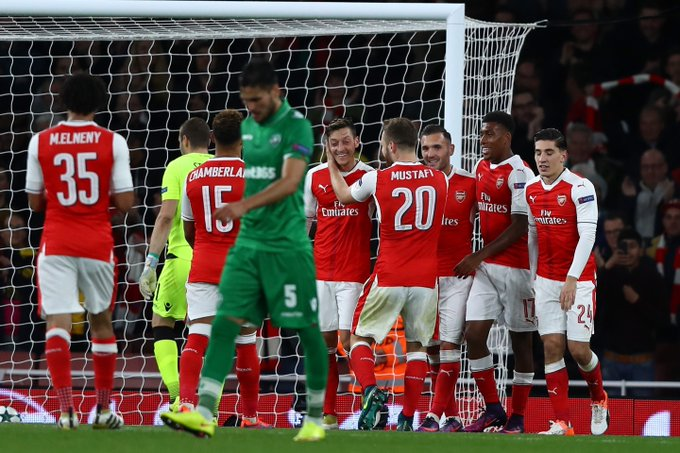 Arsenal 'flying with confidence' after UCL thrashing of Ludogorets – Walcott