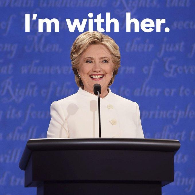 RT if you're proud of Hillary tonight. #DebateNight #SheWon