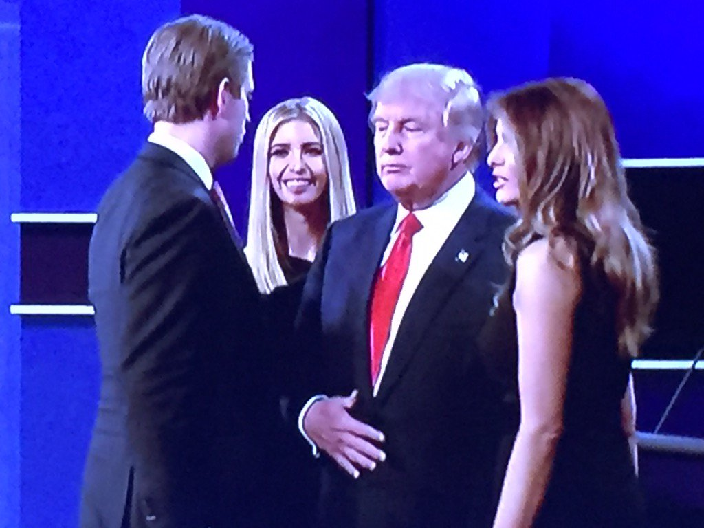 Trump just greeted his family like Elton John at a paid meet-and-greet. https://t.co/yGpaWiU6H6
