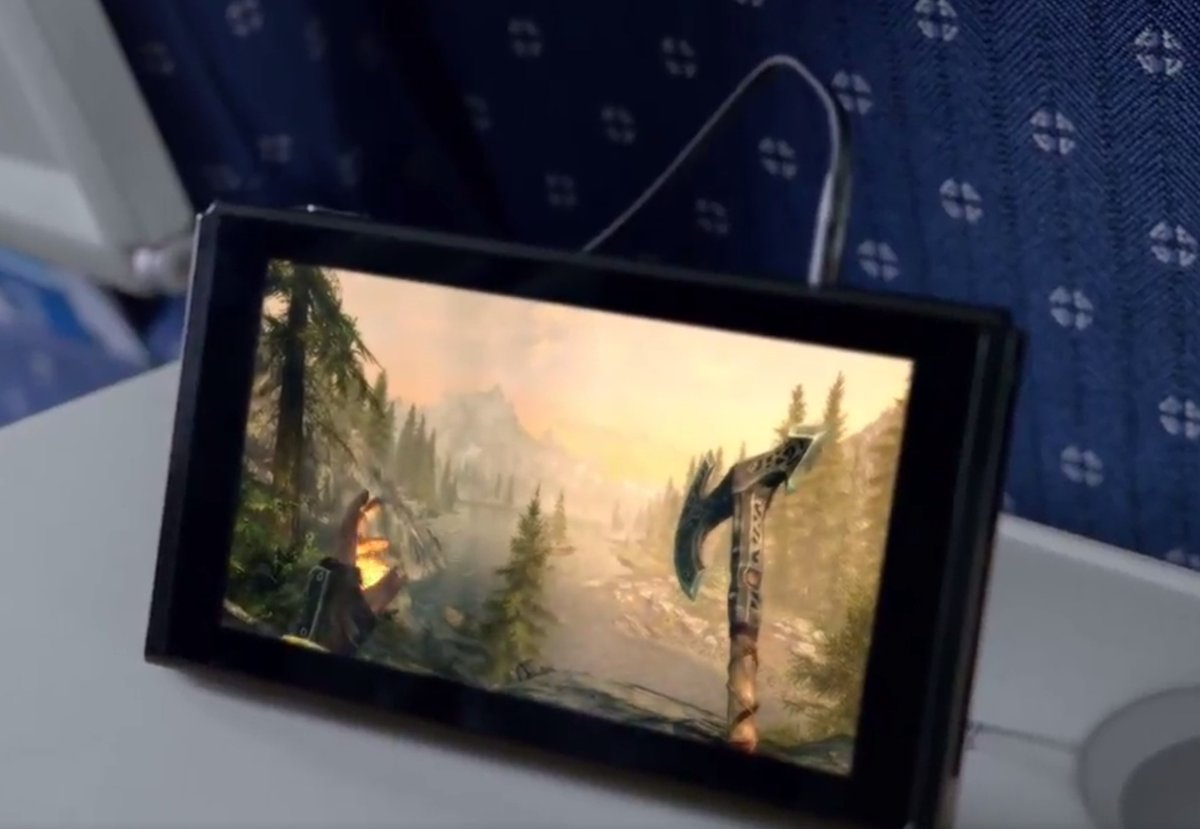 Skyrim on the go is all I care about #NintendoSwitch #NintendoNX https://t.co/kXlZ1eZCRM