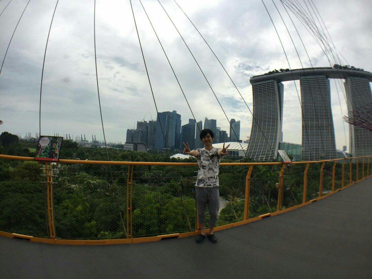 シンガポールを凝縮した景色と梶さん #kaji1134 #agqr #joqr