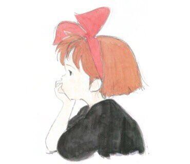 今日模写した元のやつこれ。魔女宅のキキなんかな?とりあえず後ろ髪モサかったけ、描く時カットしたったわ。