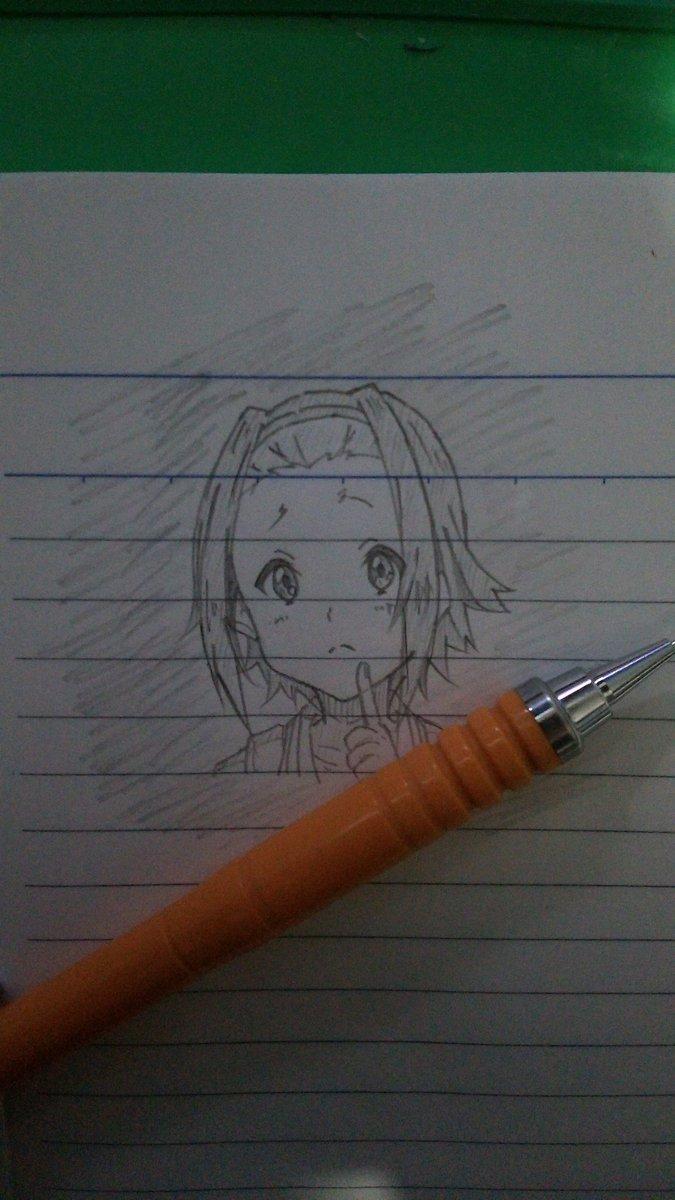 落描き~りっちゃんヾ(*´∀`)✨✨「今日はどこに行こっかなぁ〰」#k_on