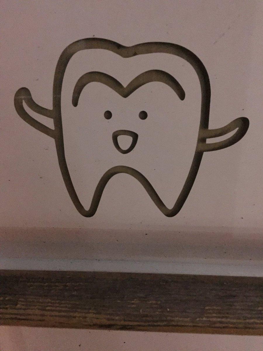 両さんみたいな歯〜す🐙
