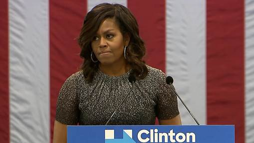 """Michelle Obama on Trump: """"He is threatening the idea of America itself"""""""