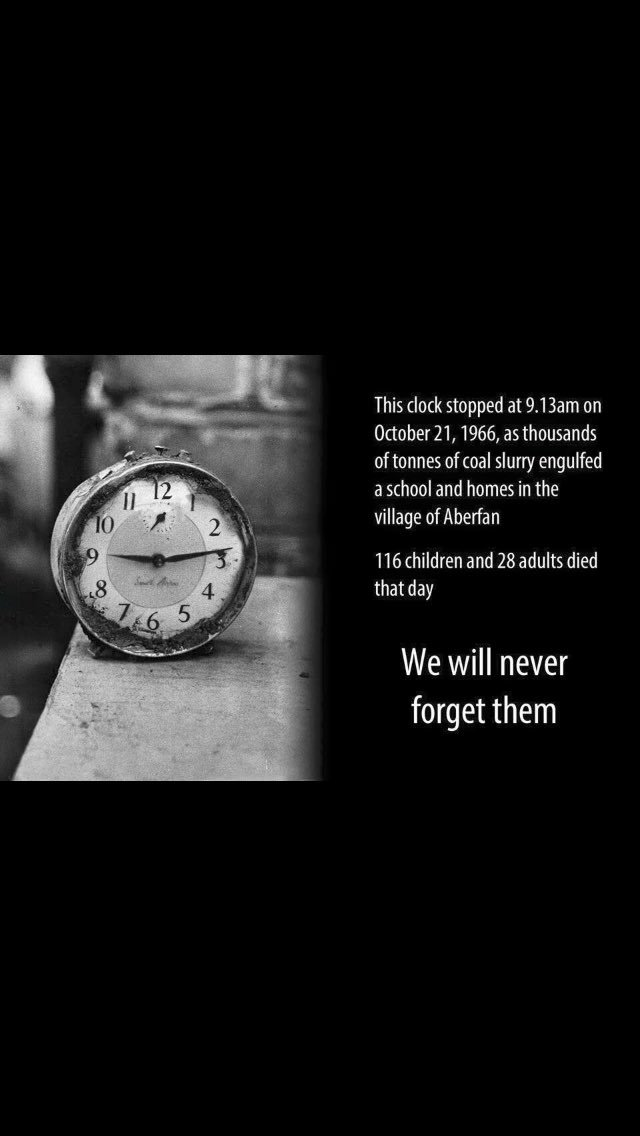 Today we remember all those that lost their lives 50 years ago. #AberfanDisaster  https://t.co/EY9wwkUPUg