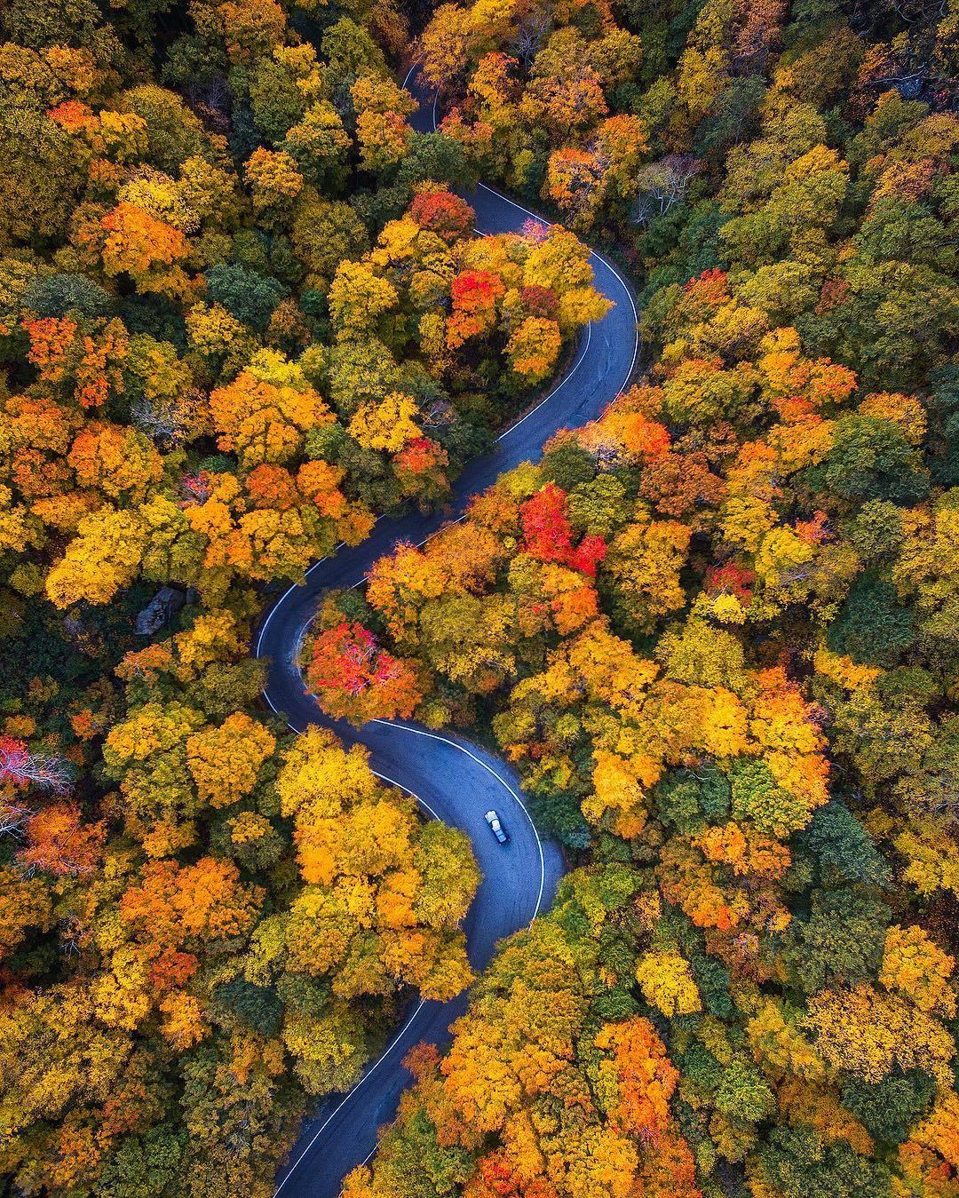 Windy fall drives in Vermont | Photo by Michael Matti (@michaelmatti on IG) https://t.co/huItTI0v4c