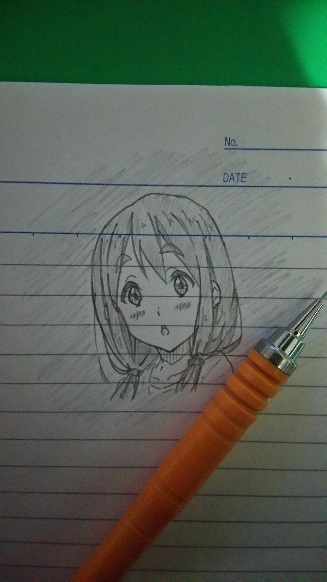 落描き~むぎちゃんヾ(*´∀`)💕💕「今日は本当に楽しかったよ🎵🎵」#k_on