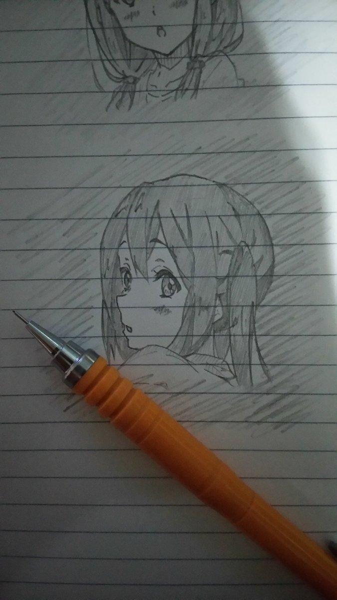 落描き~あずにゃんヾ(*´∀`)💕💕#k_on