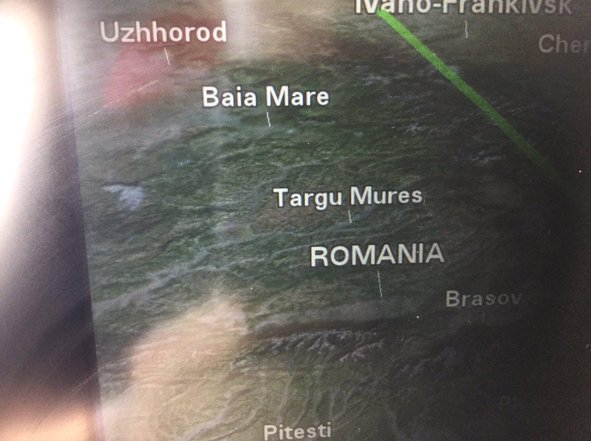 今日はスト魔女で有名なロマーニャ上空を飛んできました